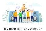 music festival performance flat ... | Shutterstock .eps vector #1403909777