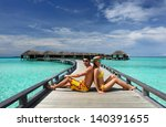 couple on a tropical beach at... | Shutterstock . vector #140391655
