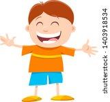 cartoon illustration of happy... | Shutterstock .eps vector #1403918534