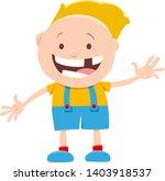 cartoon illustration of funny... | Shutterstock .eps vector #1403918537