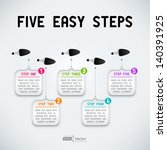 five easy steps | Shutterstock .eps vector #140391925