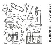 set of laboratory equipment in... | Shutterstock .eps vector #1403926184