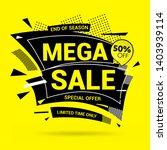 mega sale modern banner design... | Shutterstock .eps vector #1403939114