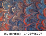Antique Marbled Paper. Hand...