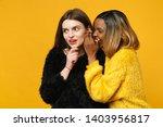 two young women friends... | Shutterstock . vector #1403956817