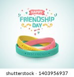 friendship day greeting card ... | Shutterstock .eps vector #1403956937