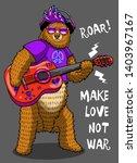 cute funny bear playing guitar... | Shutterstock .eps vector #1403967167