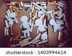 paper cut of family destroyed... | Shutterstock . vector #1403994614