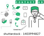 contact us icons set   isolated ... | Shutterstock .eps vector #1403994827