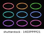oval frames collection. circle... | Shutterstock .eps vector #1403999921