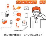 contact us icons set   isolated ... | Shutterstock .eps vector #1404010637