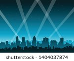 blue city lights background... | Shutterstock .eps vector #1404037874