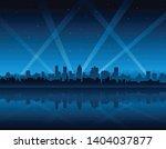 blue city lights background... | Shutterstock .eps vector #1404037877