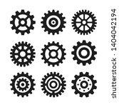 vector gear icons set. black... | Shutterstock .eps vector #1404042194