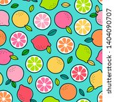 colorful hand drawn citrus... | Shutterstock .eps vector #1404090707