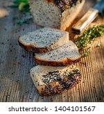 bread  rye sourdough bread with ... | Shutterstock . vector #1404101567