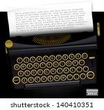 Vector Typewriter With List...