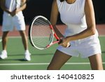 midsection of mixed doubles... | Shutterstock . vector #140410825