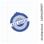 atlantic drawn with pen strokes.... | Shutterstock .eps vector #1404109097