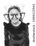 child happy with good eyesight. ... | Shutterstock . vector #1404115541