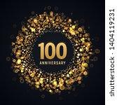 100 Years Anniversary Isolated...