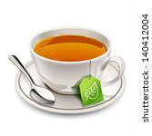 cup of tea with tea bag | Shutterstock .eps vector #140412004