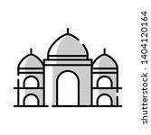 black mosque icon line art  | Shutterstock .eps vector #1404120164