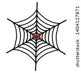 spider web icon. outline spider ... | Shutterstock .eps vector #1404127871