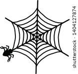 spider web icon. outline spider ... | Shutterstock .eps vector #1404127874