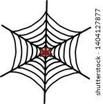 spider web icon. outline spider ... | Shutterstock .eps vector #1404127877