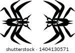 scary vector design of insects. ... | Shutterstock .eps vector #1404130571