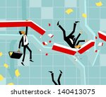 people fall | Shutterstock .eps vector #140413075