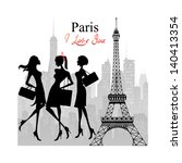 paris   a city of love and... | Shutterstock . vector #140413354
