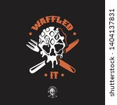 waffle skull theme food truck... | Shutterstock .eps vector #1404137831