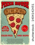 poster template of pizza house. ... | Shutterstock .eps vector #1404142451
