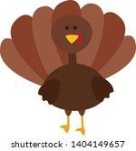 a turkey bird with a... | Shutterstock .eps vector #1404149657