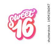 sweet 16. vector lettering... | Shutterstock .eps vector #1404156047
