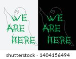 ghost contour on a black and... | Shutterstock .eps vector #1404156494