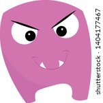 angry purple monster with angry ... | Shutterstock .eps vector #1404177467