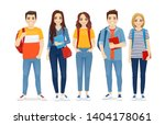 young people in casual clothes... | Shutterstock .eps vector #1404178061