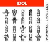 Tribal Ancient Idols Vector...