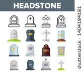 headstone  gravestone ... | Shutterstock .eps vector #1404184181