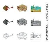 vector design of wildlife and... | Shutterstock .eps vector #1404195461