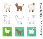 vector design of breeding and... | Shutterstock .eps vector #1404208904