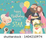 mom and dad celebrating their... | Shutterstock .eps vector #1404210974