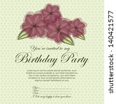 floral invitation birthday over ... | Shutterstock .eps vector #140421577