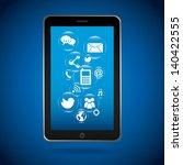 smart phone design over blue... | Shutterstock .eps vector #140422555