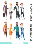 people in two different style... | Shutterstock .eps vector #1404226931