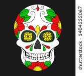 day of the dead colorful skull... | Shutterstock .eps vector #1404232067