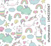 cute magical unicorn  cat  ...   Shutterstock .eps vector #1404235067